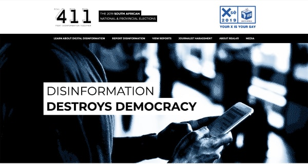 disinformation destroys democracy SAElections2019-min